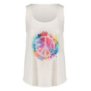 🎁✨RAINBOW PEACE GRAPHIC RACER BACK TANK